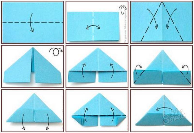 Как сделать объемный прямоугольный треугольник из бумаги схема65