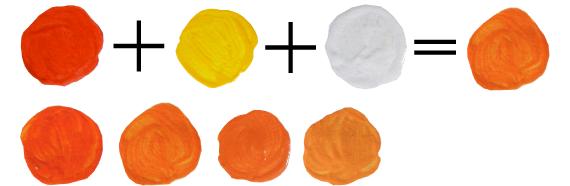 Как из оранжевой краски сделать розовую