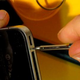 bytte batteri på iphone